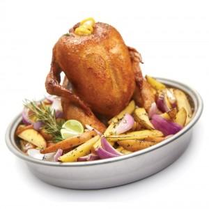Stojak do kurczaka z koszem do gotowania na parze Broil King
