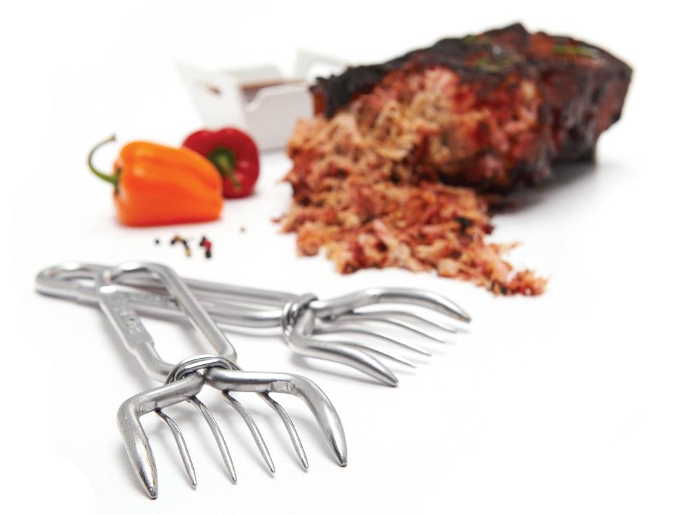 Metalowe widelce do szarpania mięsa